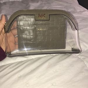 Michael Kors Clear Travel Pouch/Cosmetic Bag